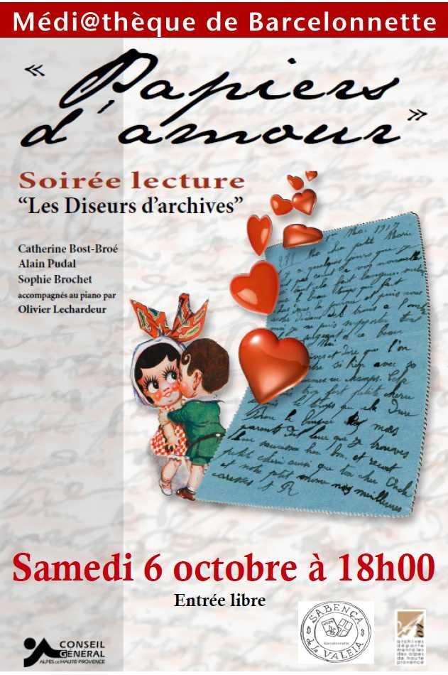 Samedi 6 OCTOBRE 18H: Papiers d'amour dans Archives papiersdamours