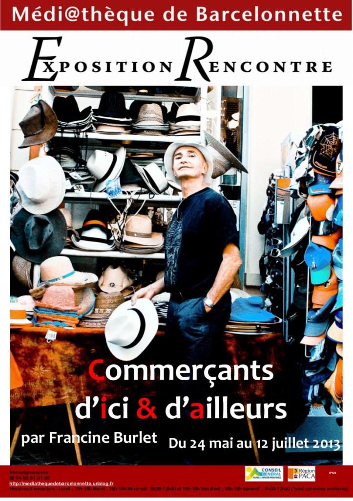 Commerçants d'ici et d'ailleurs : Une exposition de Francine Burlet du 24 mai au 12 Juillet 2013 dans Expositions