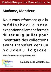 Fermeture exceptionnelle de la médiathèque du 1er au 6 juillet 2013 dans Nouveautés fermeture-m2diath7que-212x300