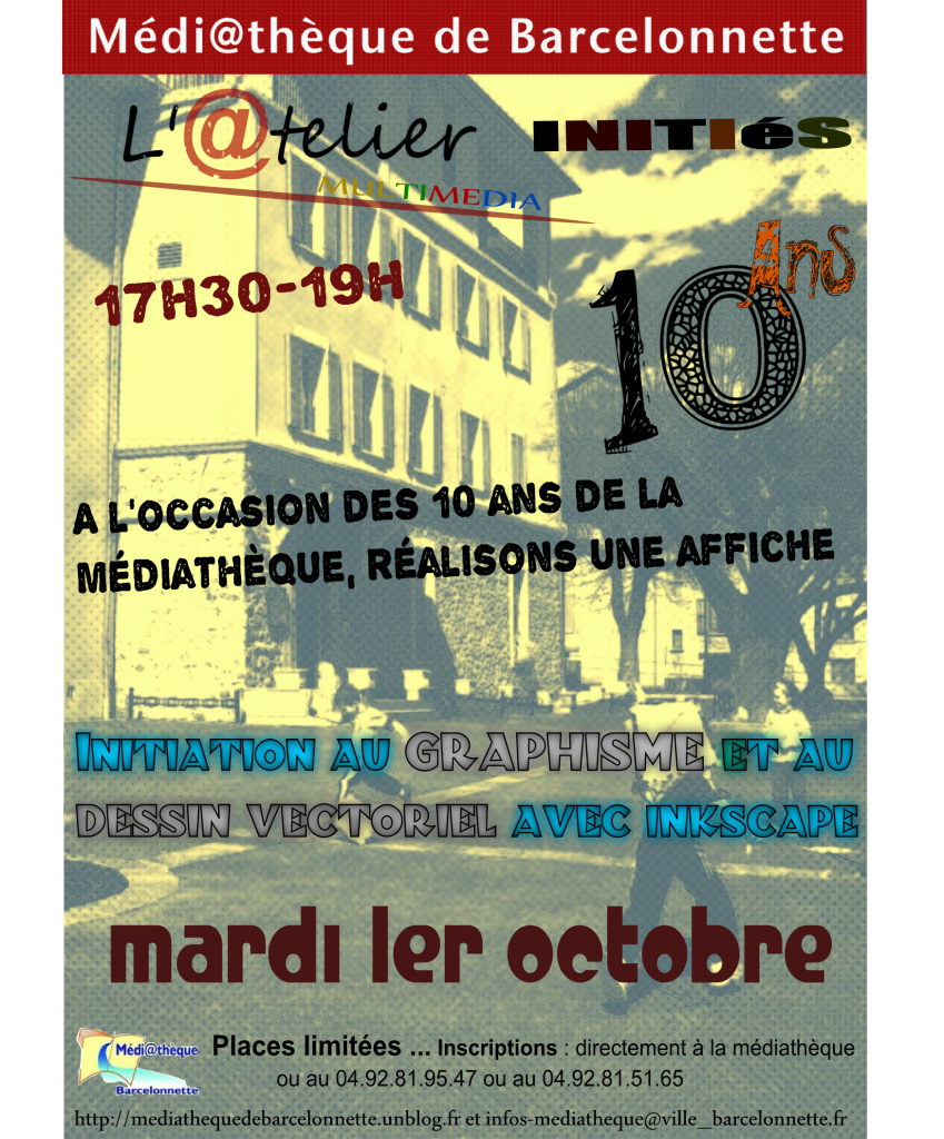 Affiches ateliers multimédia adulte d'octobre 2013 dans Animations Multimédia graphisme