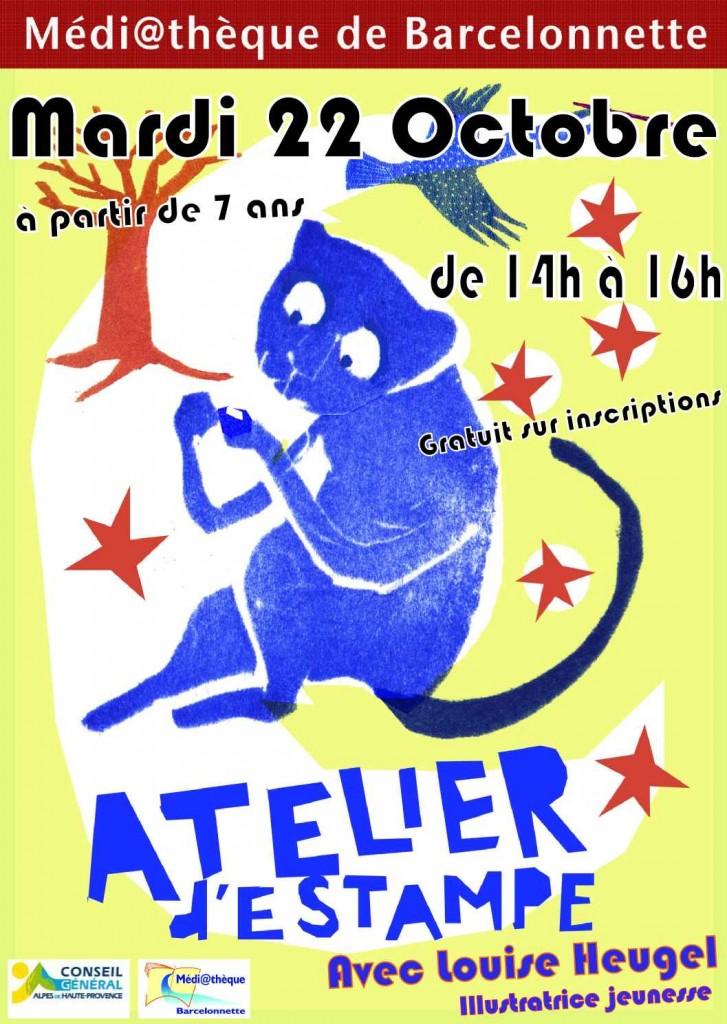 Atelier d'estampe avec Louise HEUGEL dans Animations Jeunesse affiche-estampe