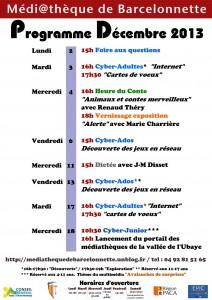 Programme décembre 2013